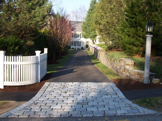 DRIVEWAYS - COBBLES AND GARDENS