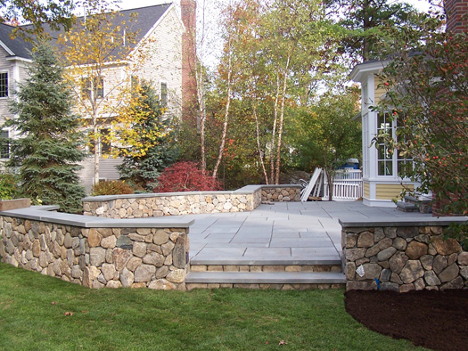 Superior Rather Than Add A Deck, This Family In Natick, Mass Wanted To Have A Raised  Stone Patio.
