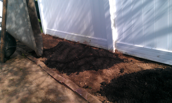 adding compost perennial bed renovation