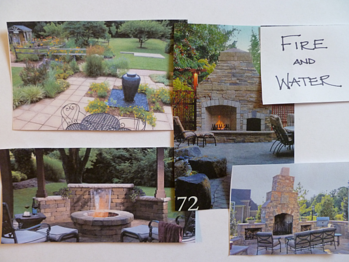 water feature and fire feature in the landscape
