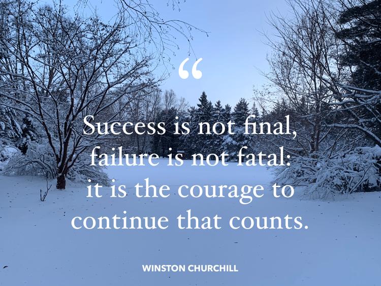 Failure-Success Quote - Winston Churchill
