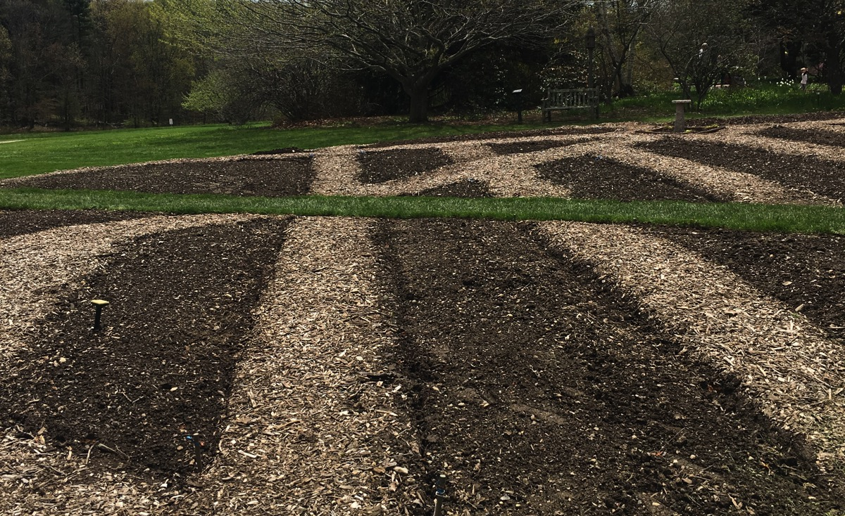 Garden Soil Prep at Tower Hill Botanic Gardens in Boylston Mass.