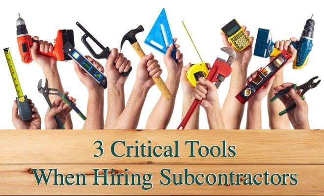 eliminate subcontractors problems