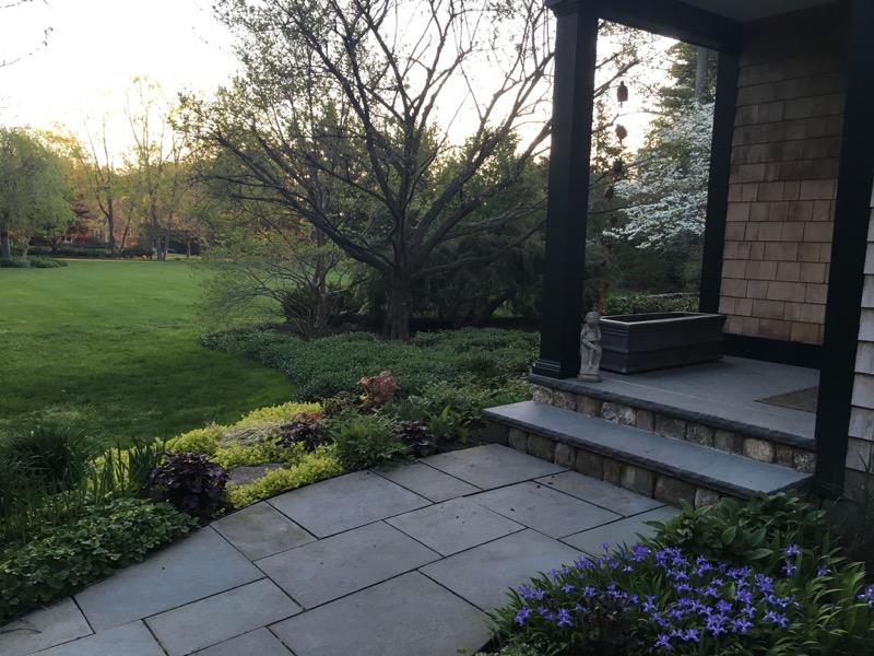 layered landscape emerging in springtime